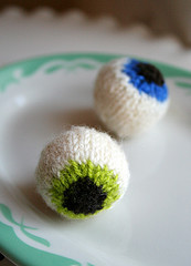 Quirky...who would think of knitting eyeballs?