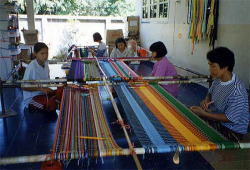 Weaving is a family affair