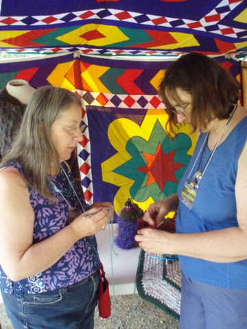 Laurie Sims offers a free crochet clinic on Saturday morning