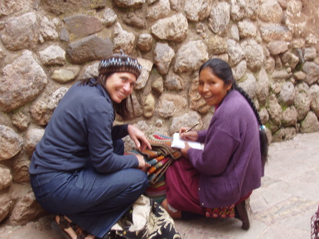 Lesson by an Inca wall (that smells too much like pee)