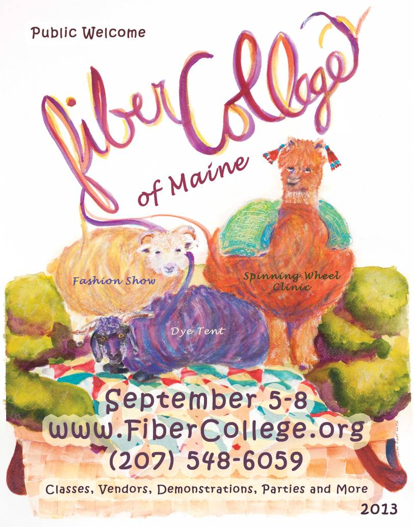 Susan Tobey White Painted a Fiber College Poster!