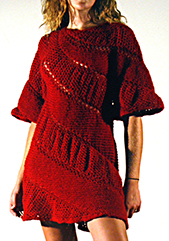 Katharine uses diagonal knitting in this creation