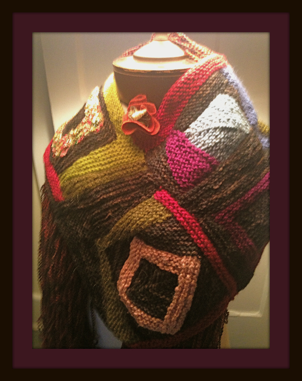 An extraordinary knitted shawl