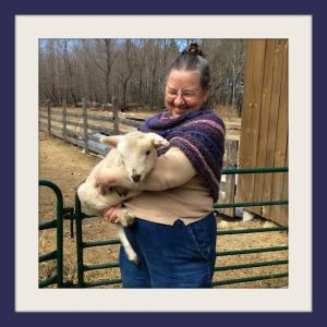 Marty and one of her lambs