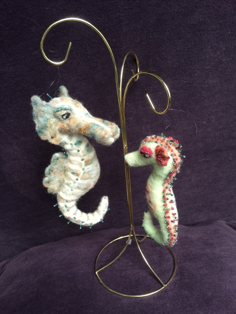 Beaded seahorses by Weyrick-Scott