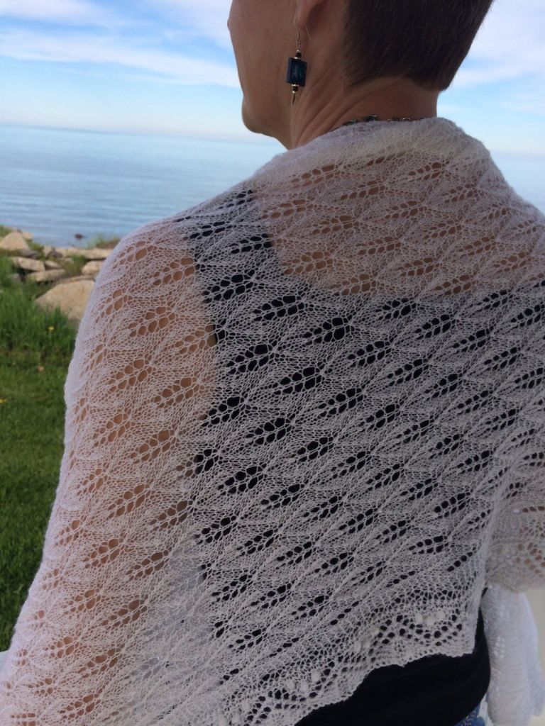 This beautiful Estonian Haapsalu Lace Shawl illustrates techniques that Mary will teach in her Nupps and Estonian Lace class on Saturday morning.