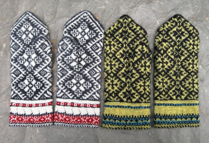 In her Estonian Mittens class, Mary will teach the Kihnu style in both traditional and nontraditional colors.