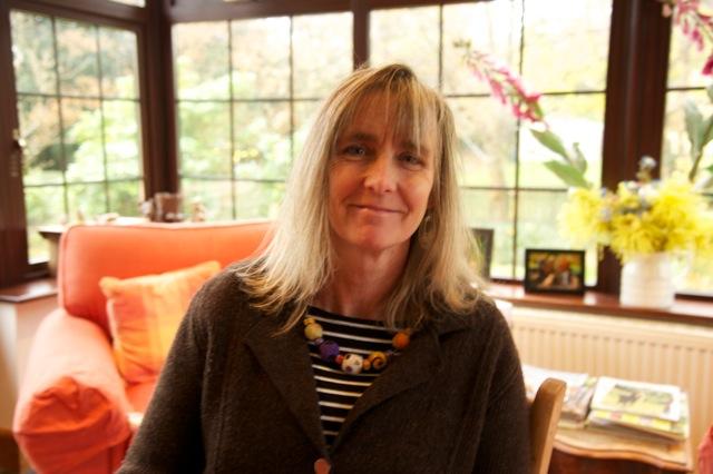 Farmer and fiber artist Denise Sawyer