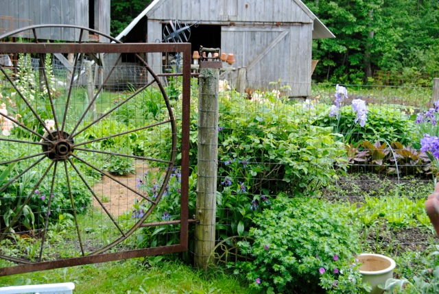 In addition to raising sheep and creating with all kinds of fiber, Denise runs a nursery with her husband.