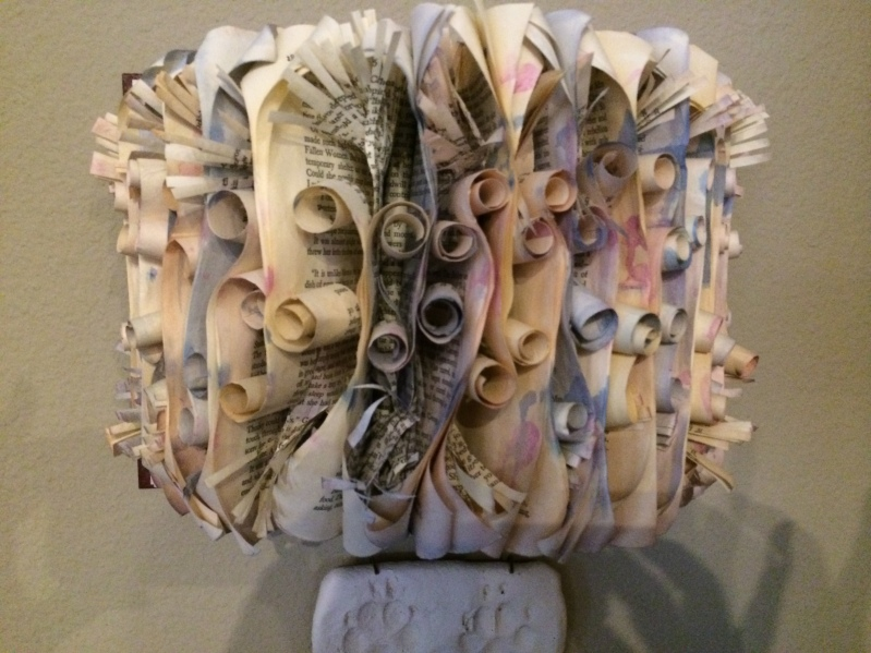 Deborah designs and creates with books and paper.