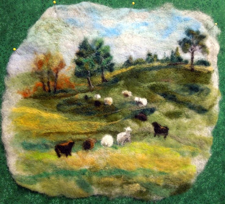 Marty's luscious Green Pastures is a gorgeous example of her fine fiber art.
