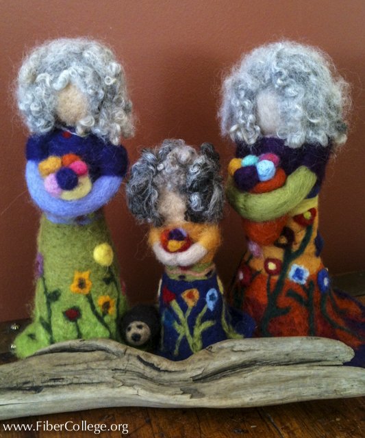 Kathleen's students at Fiber College will create garden goddesses on Saturday afternoon.