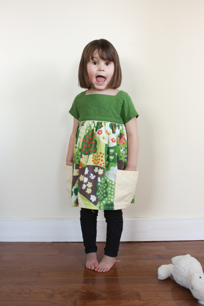 Holly created darling dresses for her daughter.