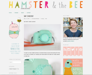 Holly's blog, Hamster and the Bee. Her Sunday afternoon students will create artist blogs to document and share with others.