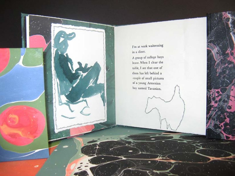 A sample of Cynthia's bookbinding work.