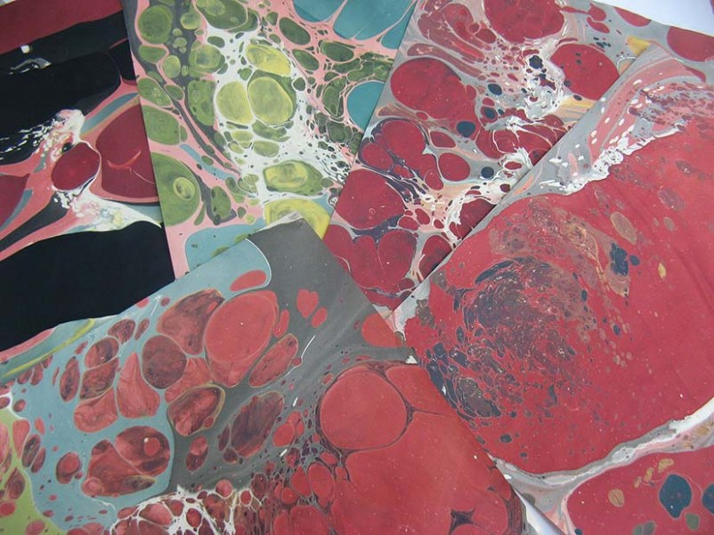 Gorgeous marbled paper by Cynthia McGuirl.