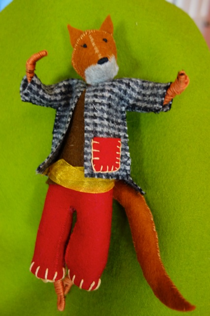 Recycled and upcycled clothing bring Denise's figures to life.