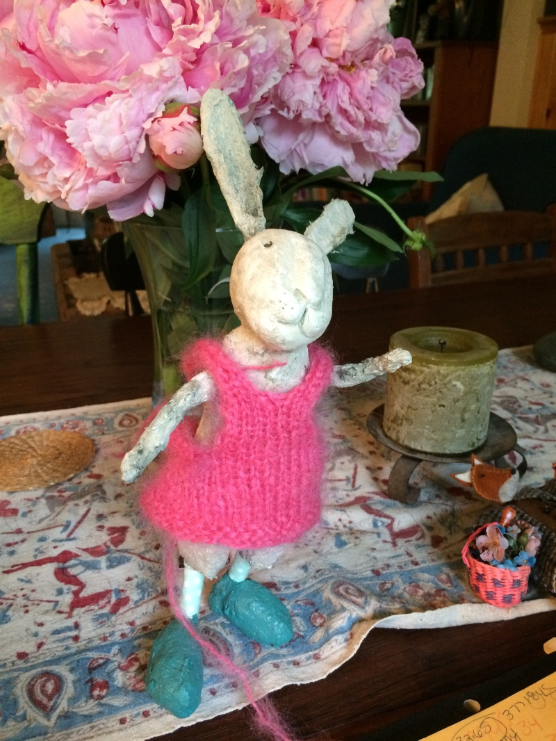 Denise will teach how to make and dress papier mache figures at Fiber College with Sally Savage.