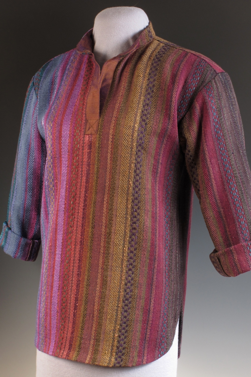 Woven with hand-dyed threads, Daryl's favorite Big Shirt