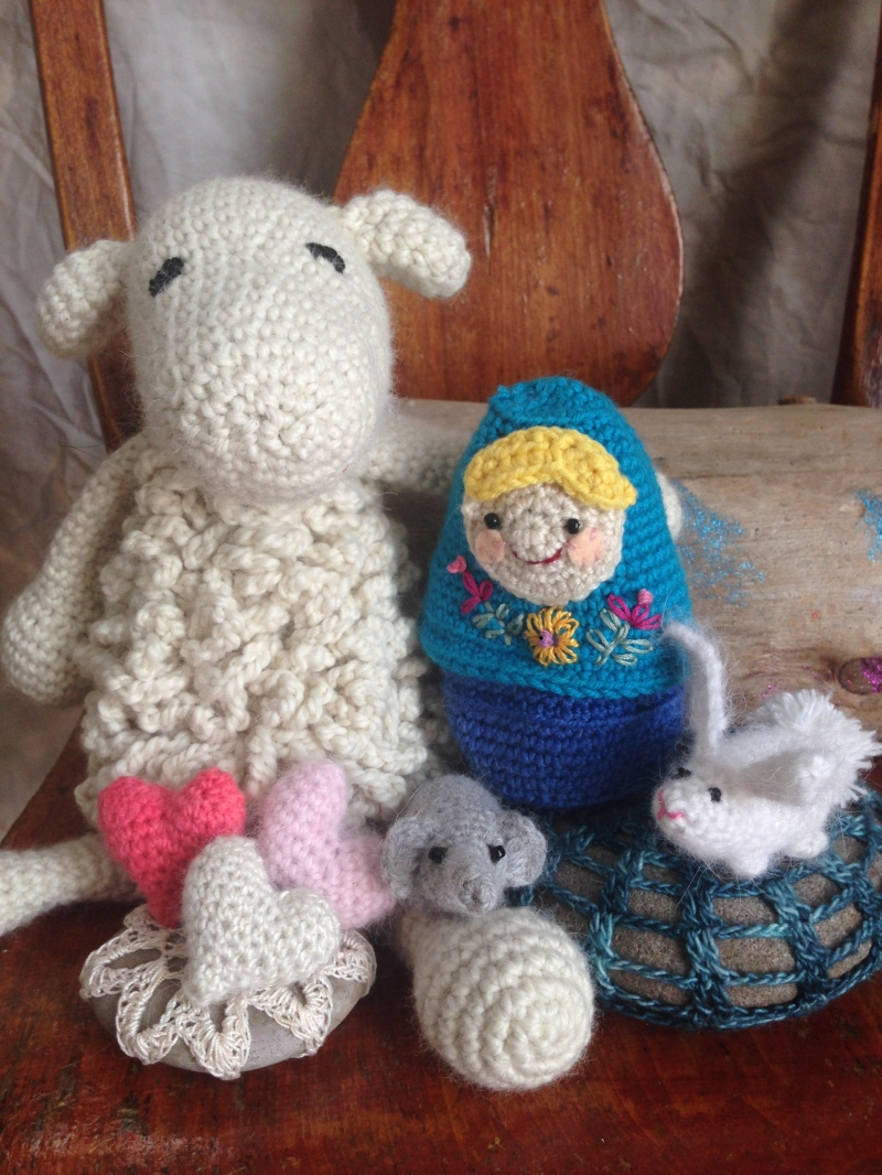 Amy Lou offers Amigurumi (Crocheted Animals) on Friday (9-1).