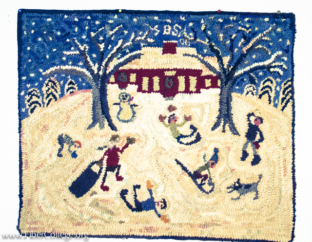 Susie often depicts favorite childhood memories in her rugs.