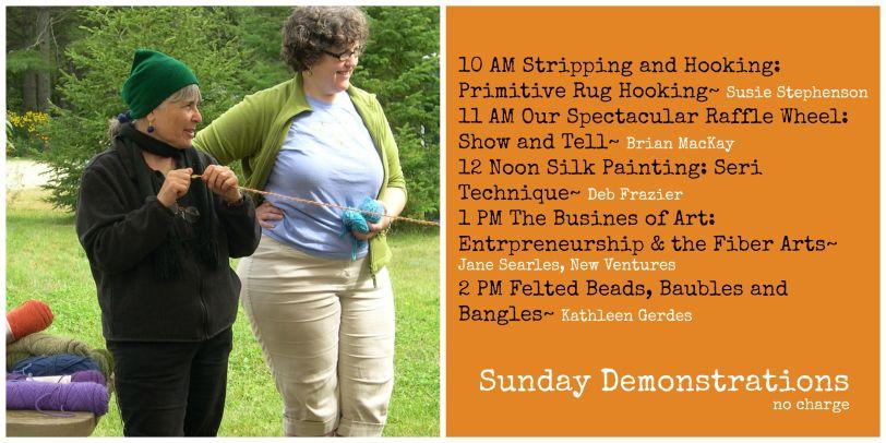 Sunday Demonstration Schedule