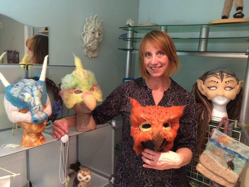 Kris and some of her masks - Wow!