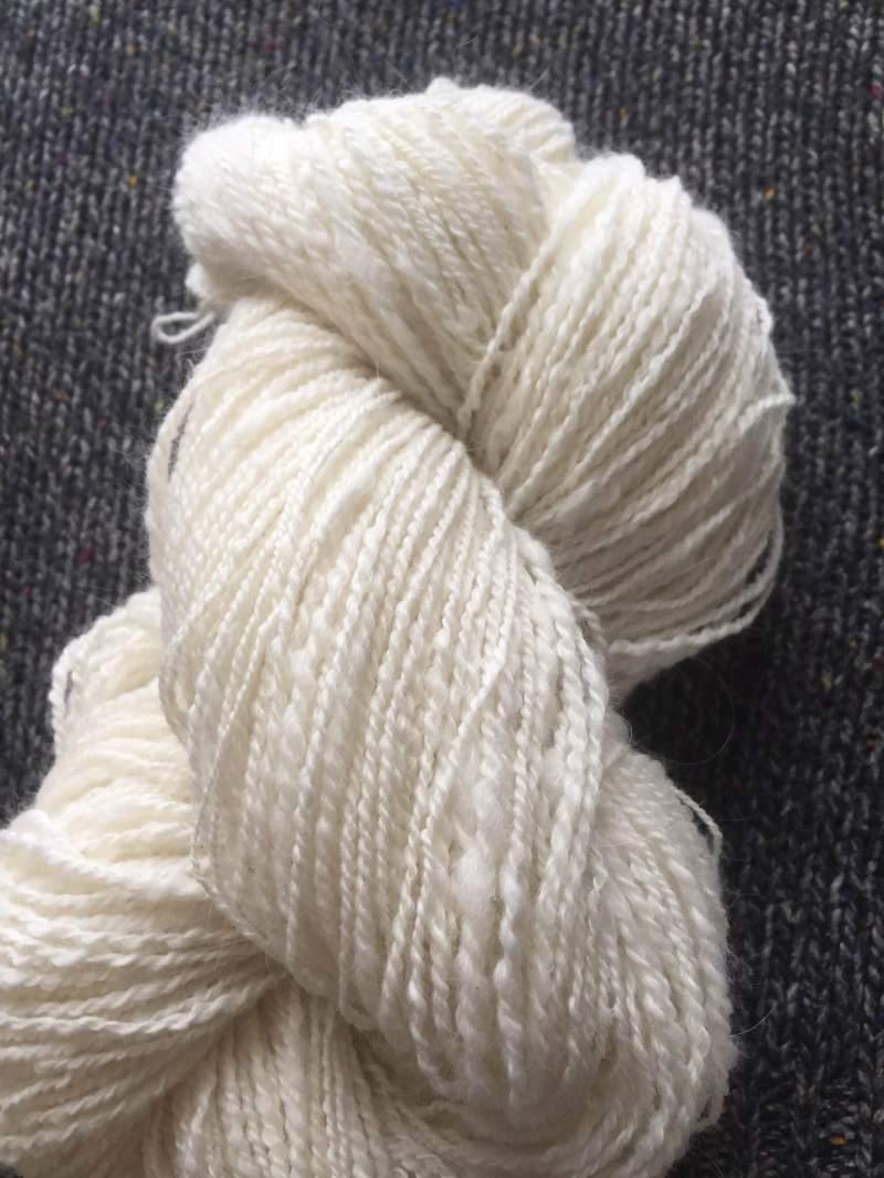 A sample of Gabi's lovely handspun yarn - wow!