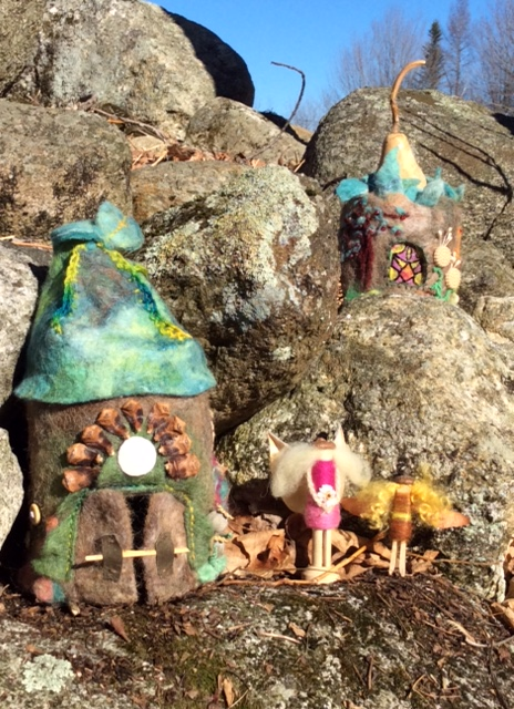 Jen will teach Felted Fairy Huts on Saturday, September 10 from 9 to 4
