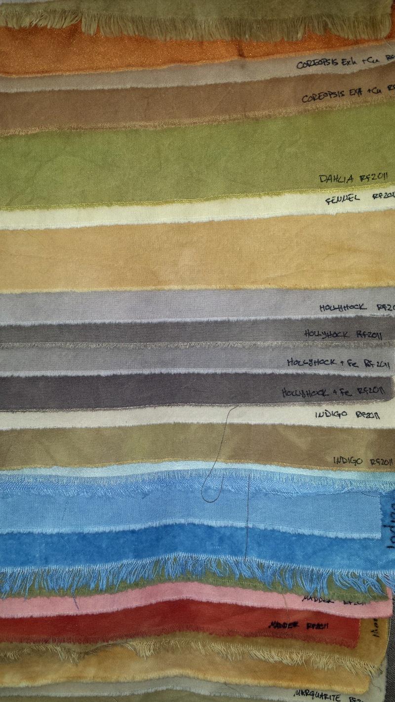 Samples from the Dye Garden