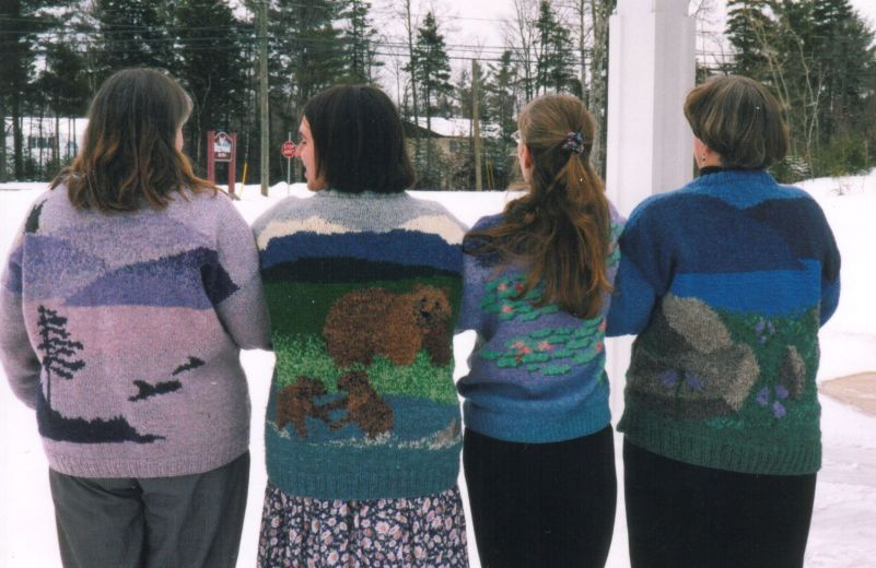 Colleen encourages her students to tell their own stories with their colorwork