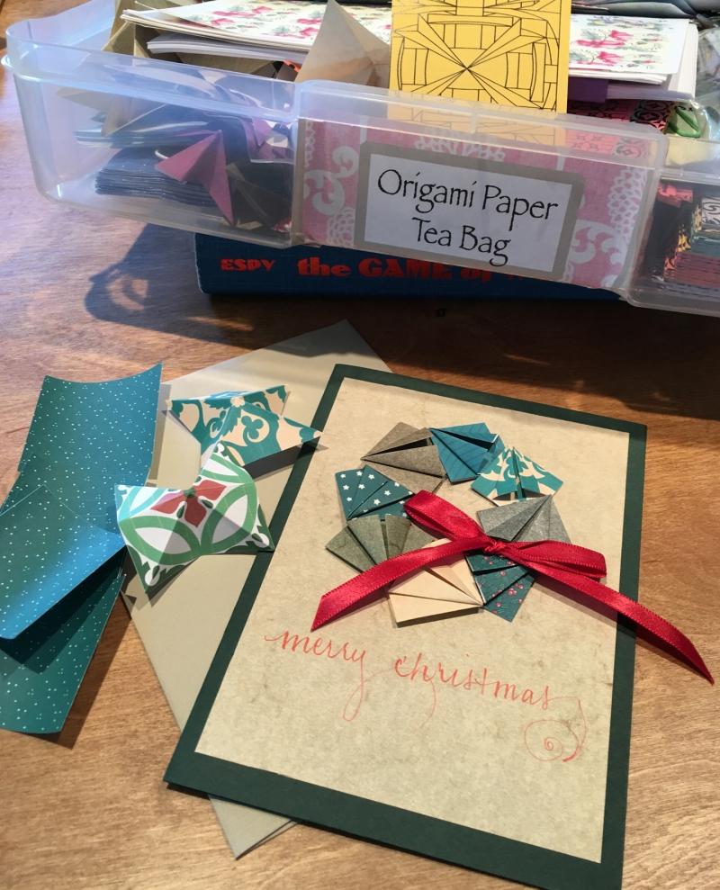 Beautiful handmade cards made with tea bag (origami) folds.
