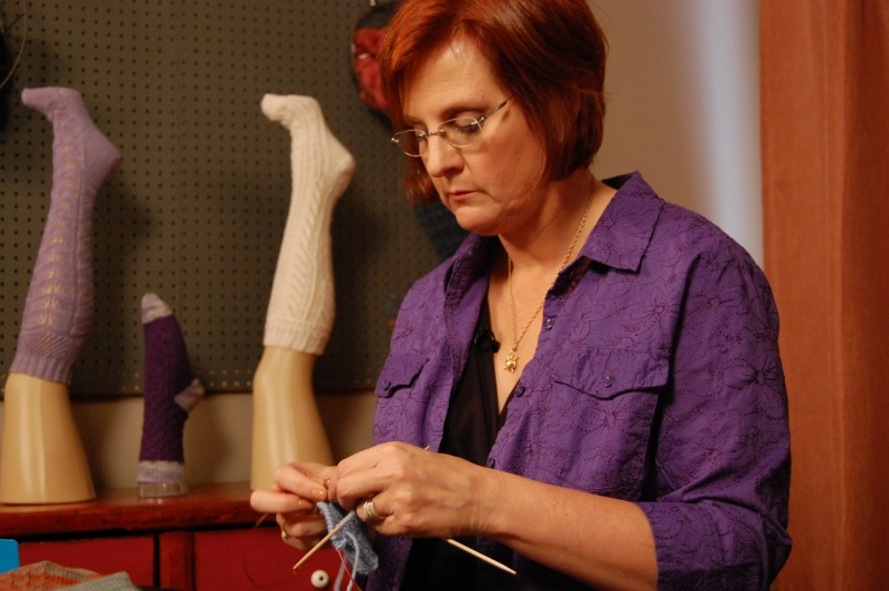 Donna teaches knitting on the Craftsy platform, too.