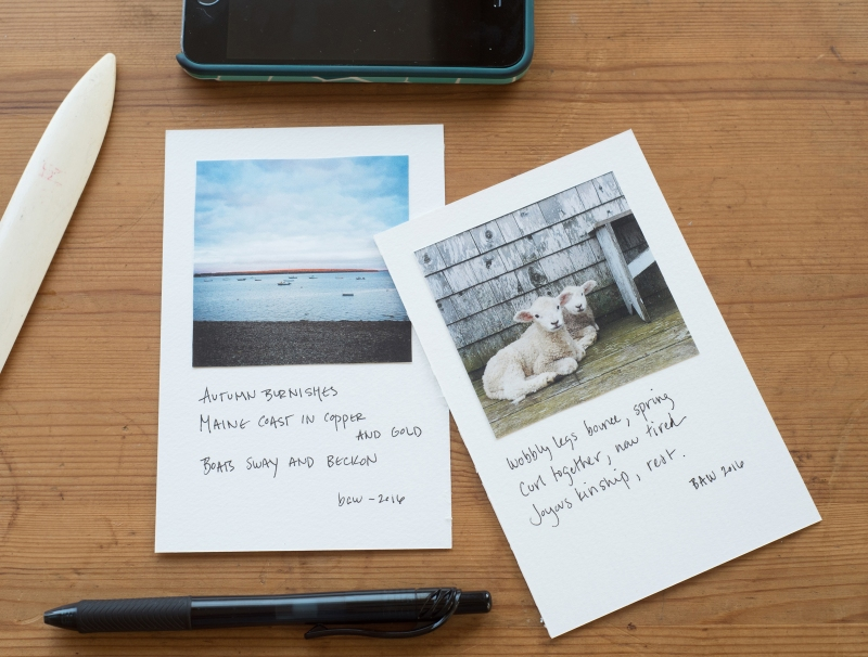 You can create some beautiful haiku cards with Gale Zucker and Beverly Williams on Friday morning